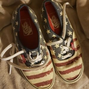 Van's shoes american flag size 5 mens/ 6.5 womens